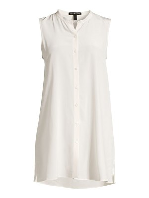 Eileen Fisher long sleeveless silk top