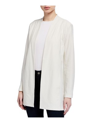 Eileen Fisher Long Washable Stretch Crepe Long Jacket