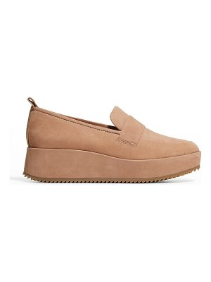 Eileen Fisher Max Nubuck Wedge Loafers
