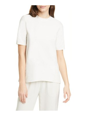 Eileen Fisher mock neck short sleeve top