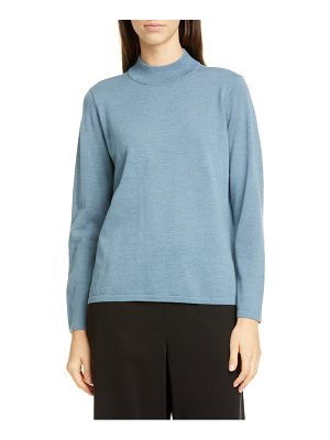 Eileen Fisher mock neck wool sweater