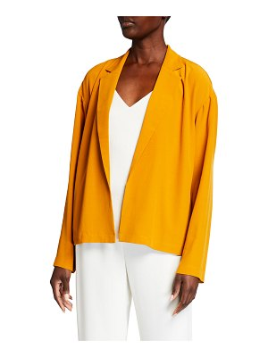 Eileen Fisher Notch-Collar Boxy Crepe Jacket