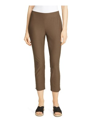 Eileen Fisher notch cuff slim crop pants