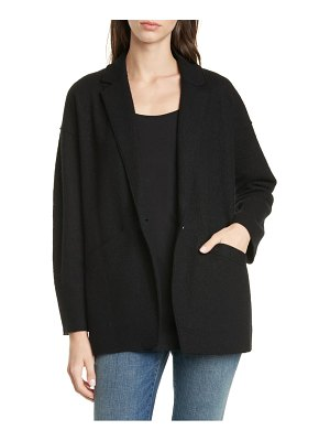 Eileen Fisher notched collar oversize wool jacket