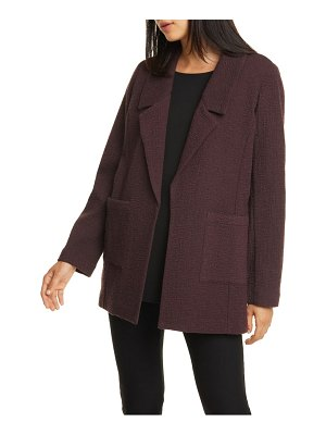 Eileen Fisher notched collar textured jacket