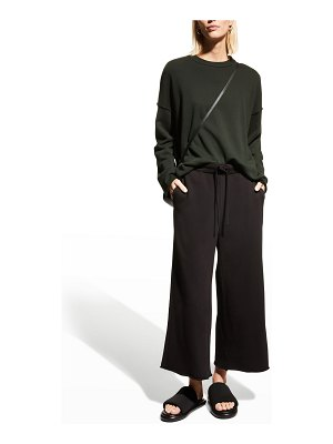 Eileen Fisher Organic Cotton French-Terry Wide-Leg Pants