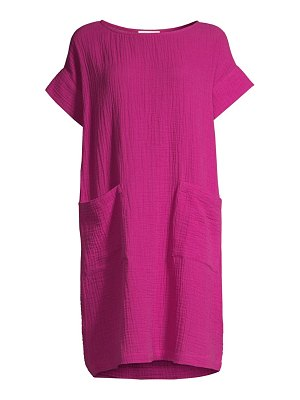 Eileen Fisher organic cotton lofty gauze shift dress