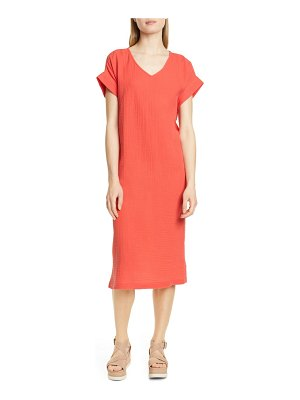 Eileen Fisher organic cotton midi dress