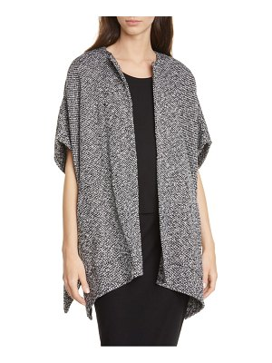 Eileen Fisher organic cotton poncho jacket