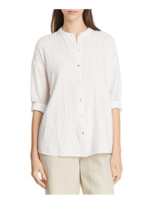 Eileen Fisher organic cotton tunic shirt