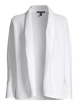 Eileen Fisher organic linen & cotton ribbed kimono cardigan