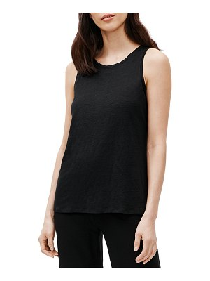 Eileen Fisher Organic Linen Jewel-Neck Tank