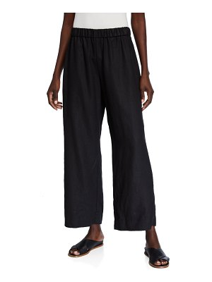 Eileen Fisher Organic Linen Wide-Leg Pull-On Pants