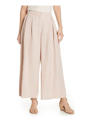Eileen Fisher pleated wide leg trousers