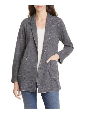 Eileen Fisher raw edge organic cotton jacket