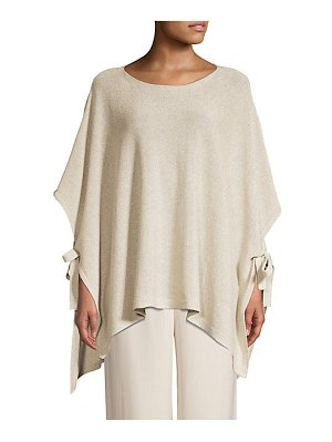 Eileen Fisher recycled cotton shine poncho