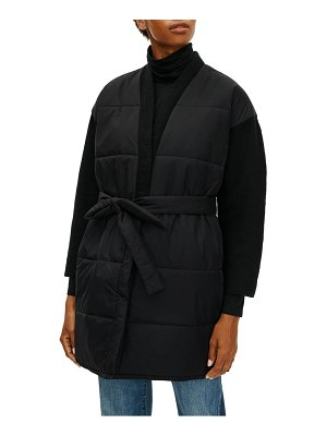 Eileen Fisher recycled nylon & boiled wool coat