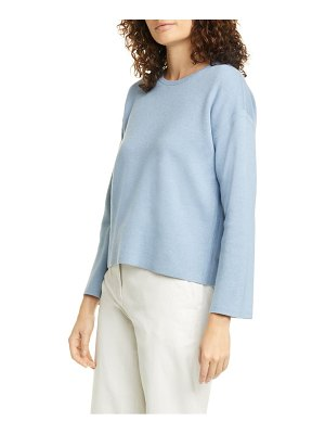 Eileen Fisher reversible organic cotton blend boxy top