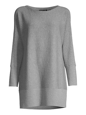 Eileen Fisher ribbed wool longline pullover