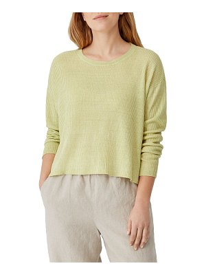 Eileen Fisher roundneck rib-knit top
