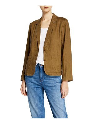 Eileen Fisher Shaped Organic Linen Blazer