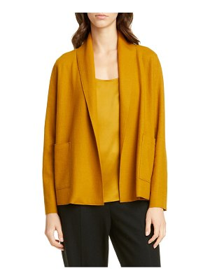 Eileen Fisher shawl collar short wool jacket