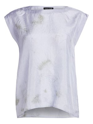 Eileen Fisher shibori sky silk abstract top