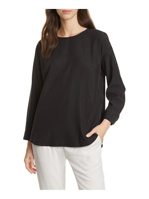 Eileen Fisher shirttail tencel lyocell blend top