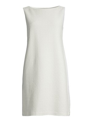 Eileen Fisher sleeveless textured stretch-cotton shift dress