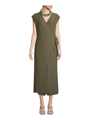 Eileen Fisher Sleeveless Wrap-Front Jumpsuit