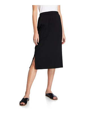 Eileen Fisher Slim Jersey Skirt with Side Slits