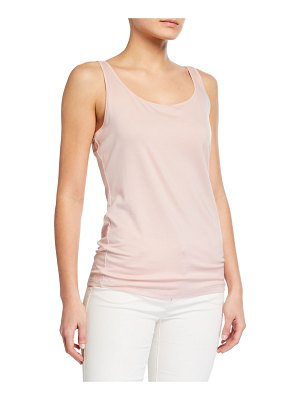Eileen Fisher Slim Scoop-Neck Jersey Shell
