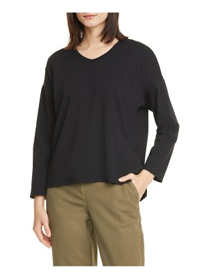 Eileen Fisher soft organic cotton blend v-neck top