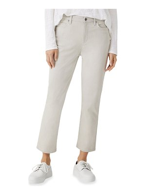 Eileen Fisher Stretch Organic Cotton High-Waist Ankle Jeans