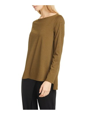 Eileen Fisher stripe bateau neck organic cotton top