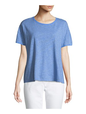 Eileen Fisher Striped Jersey Boxy Top