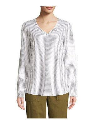 Eileen Fisher striped long sleeve top