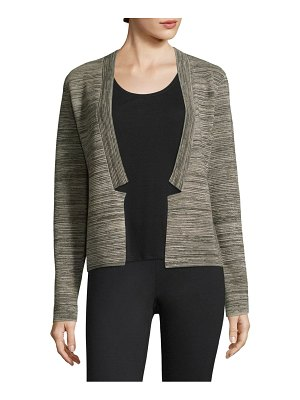 Eileen Fisher Striped Open-Front Cardigan