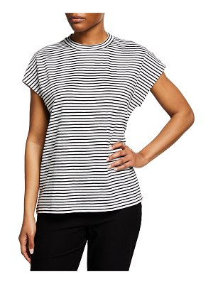 Eileen Fisher Striped Organic Cotton Jersey Boxy Top
