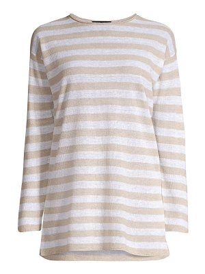 Eileen Fisher striped organic linen & cotton tunic