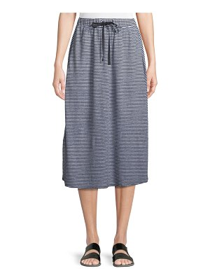 Eileen Fisher Striped Organic Linen Jersey Midi Skirt