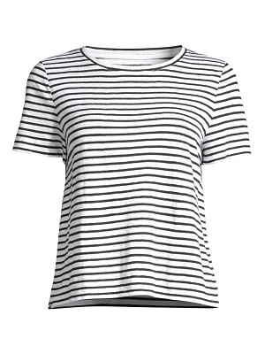 Eileen Fisher striped organic linen jersey tee