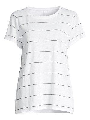 Eileen Fisher striped organic linen t-shirt