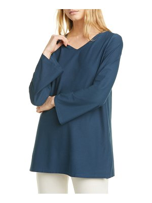 Eileen Fisher v-neck slit tunic