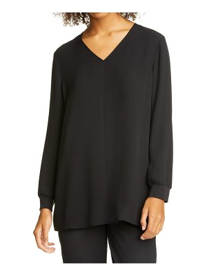 Eileen Fisher v-neck tunic top