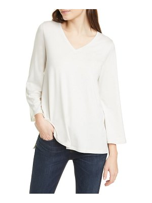 Eileen Fisher v-neck wide sleeve top
