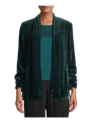 Eileen Fisher Velvet Open-Front Jacket
