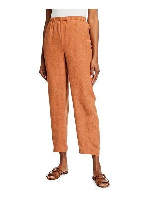 Eileen Fisher Washed Organic Linen Delave Lantern Ankle Pants