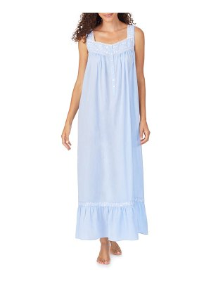 Eileen West cotton chambray nightgown