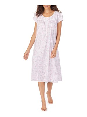 Eileen West ditsy floral cotton nightgown